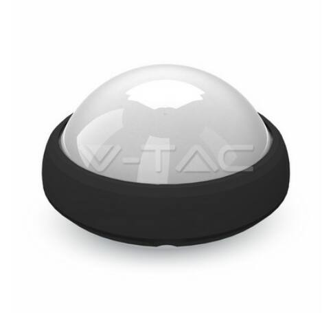 12W Dome Light Fitting Black Body Round 6000K IP65
