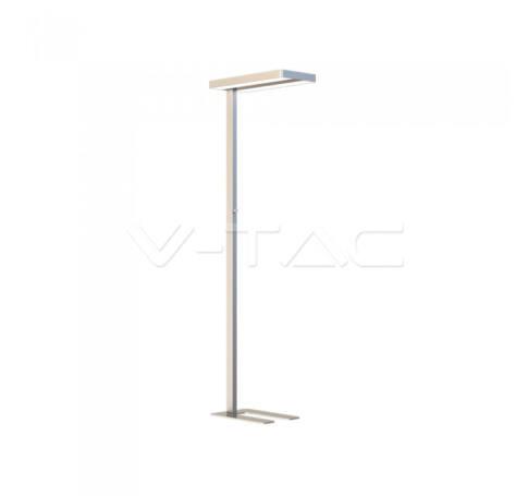 V-TAC 80W LED Állólámpa fényszabályzó kapcsolóval kerek forma szürke 4000K - 8523