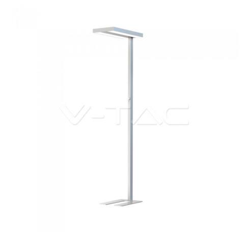 V-TAC 80W LED Állólámpa fényszabályzó kapcsolóval négyzet forma szürke 4000K - 8525