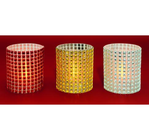 LED-es gyöngy-dekorációs mécses