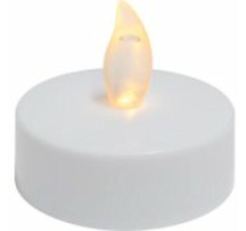 LED-es teamécses szett, 2 db, fehér, 1 sárga pislákoló LED