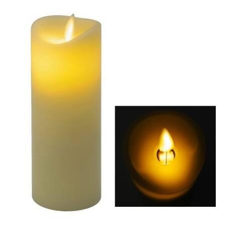 LED-es viaszgyertya mozgó lángeffekttel, 1 sárga LED