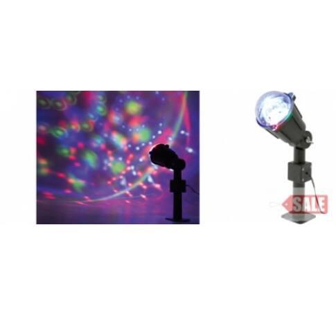 LED projektor, party fényeffekt, 230V