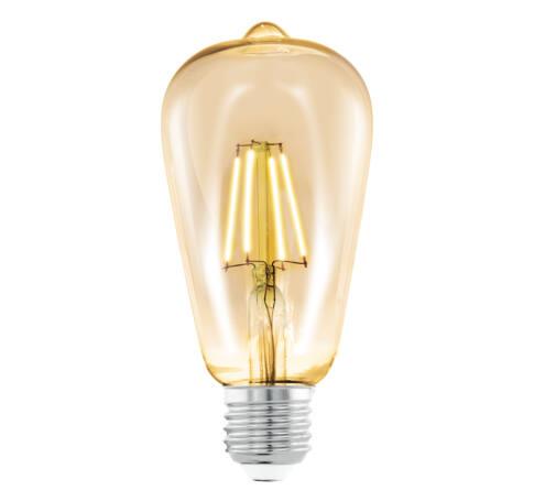 LED fényf.E27ST64 1x4W 2200K borostyán