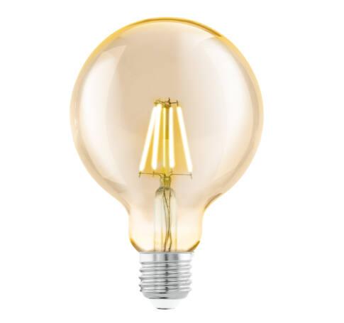 LED fényf.E27 G95 1x4W 2200K borostyán