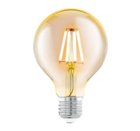 LED fényf.E27 G80 1x4W 2200K borostyán