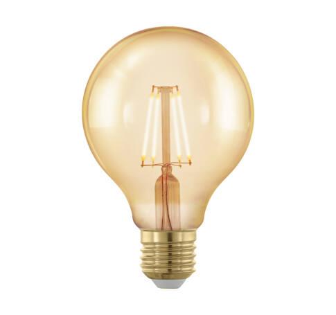 LED fényforrás E27 G80 4W 1700K 320Lm