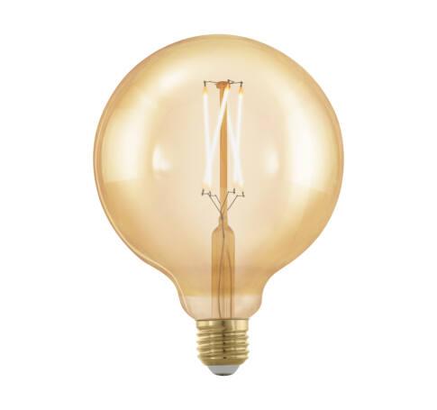 LED fényforrás E27 G125 4W 1700K 320Lm