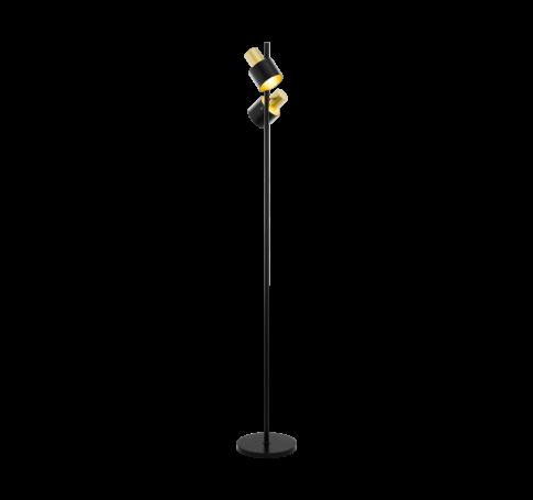 Álló E27 2x60W fekete/arany Fiumara