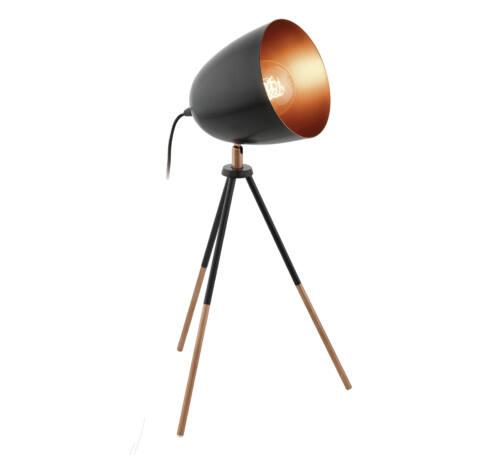 Asztali E27 60W 44cm fekete/rézChester