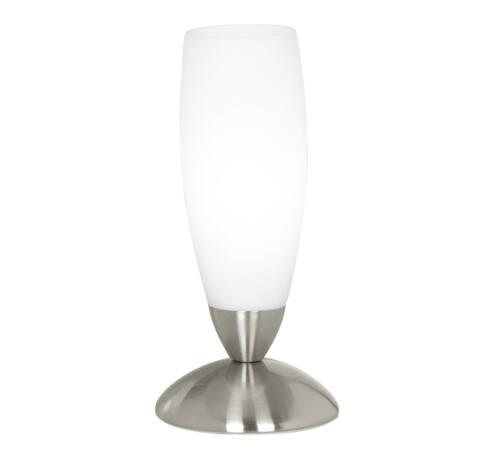 Asztali 1*40W E14 m.nikkel/fehér Slim