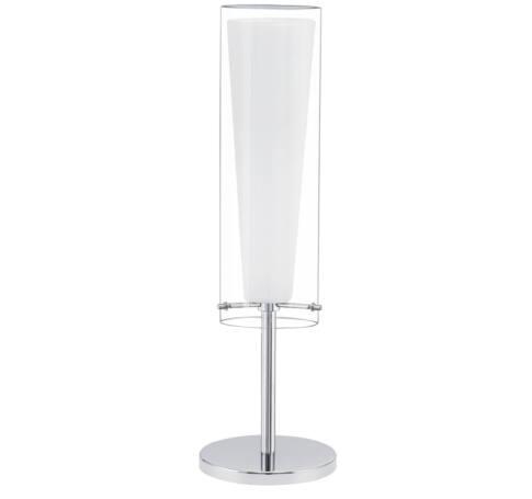Asztali lámpa E27 1x60Wkróm/fehér Pinto