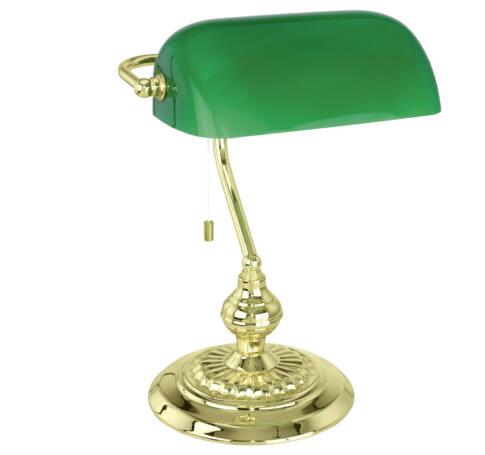Asztali 1x60W E27réz/zöld Banker 13953