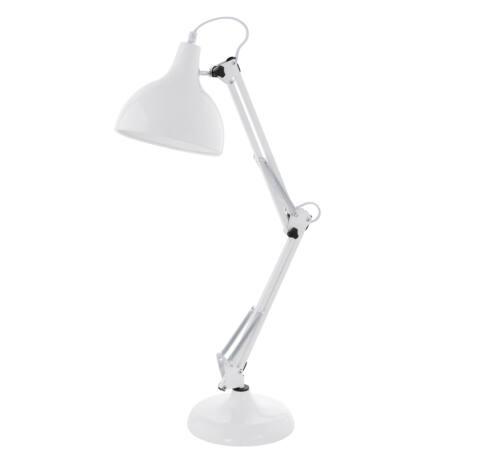 Asztali E27 60W fehér Borgillio