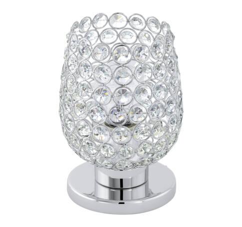 Asztali E27 60W króm/kristály Bonares