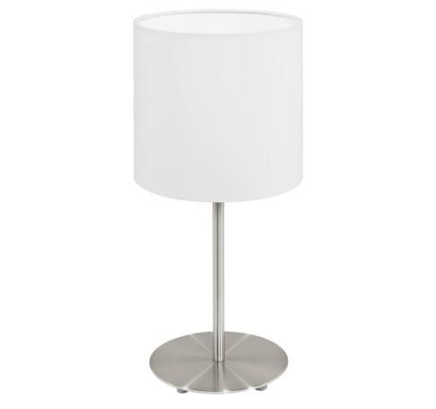 Asztali E14 1x40Wmnikkel/fehér Pasteri