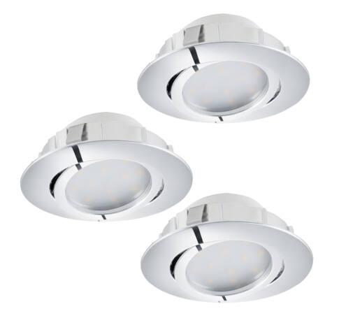 LED beépíthető 3x6W 8,4cm króm Pineda