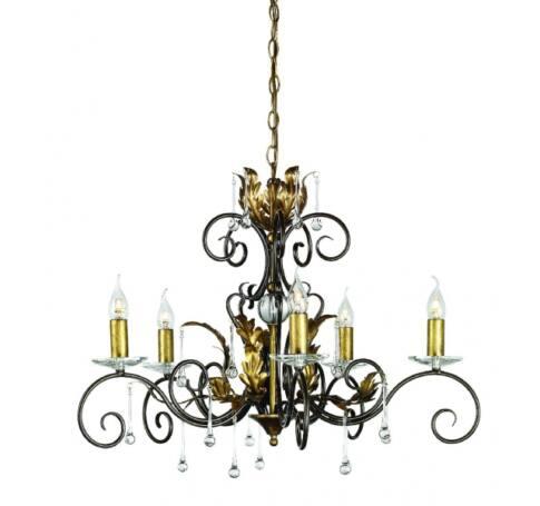 ELSTEAD Amarilli 5Lt csillár sötétbronz/arany