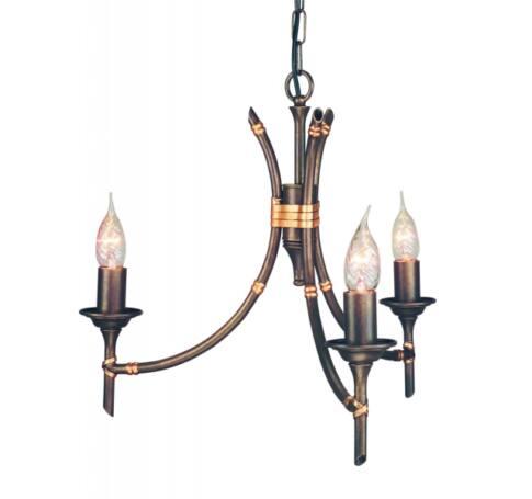 ELSTEAD Bamboo 3Lt csillár bronz (sötét árnyalat)