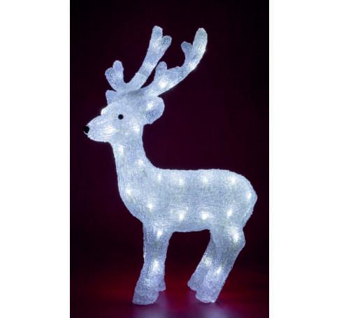 Akril rénszarvas, kültéri, 48 WH LED, 65 cm