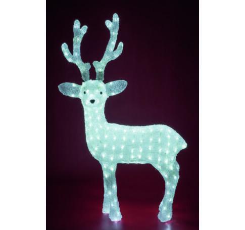 Akril rénszarvas, kültéri, 200 WH LED, 83 cm