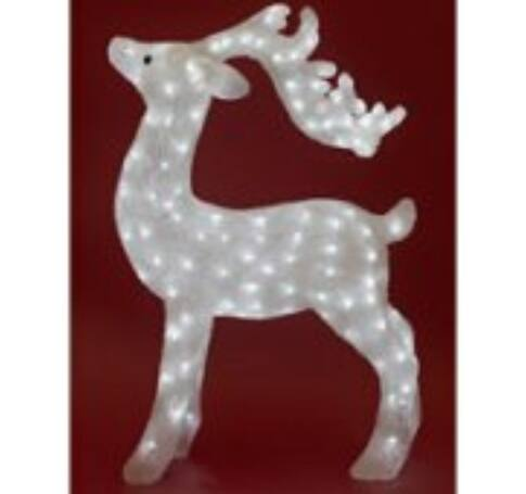 LED-es rénszarvas dekoráció, akril, 73x50cm, IP44, 230V