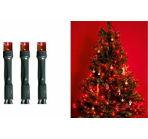 LED-es beltéri fényfüzér, piros, 200 LED