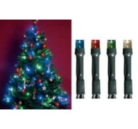 LED-es beltéri fényfüzér, színes, 50 LED