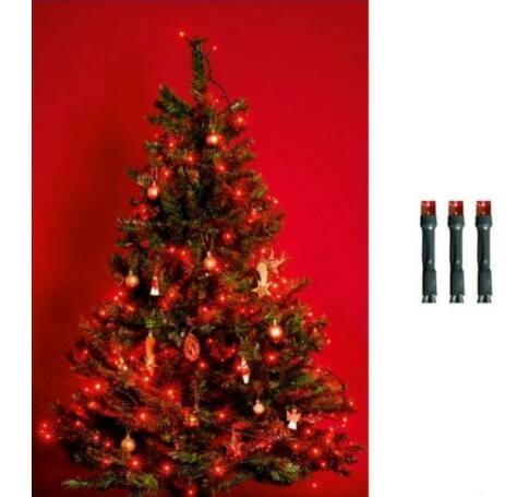 LED-es beltéri fényfüzér, piros, 50 LED