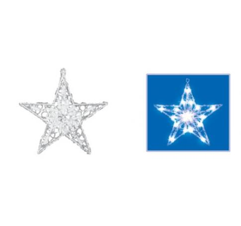 Világító ablakdísz, csillag, 30cm, 230V