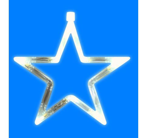 LED-es ablakdísz, csillag, 19cm, 4,5V