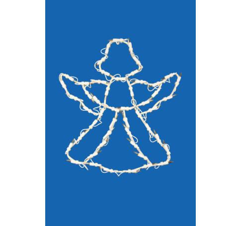Világító ablakdísz, angyal, 46cm, 230V