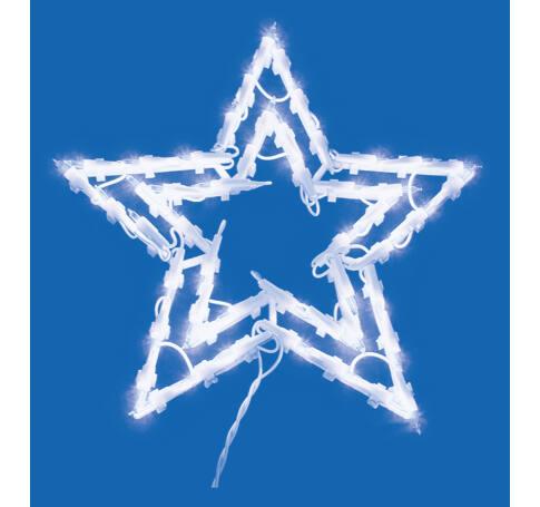 Csillag ablakdísz, 35 db izzó