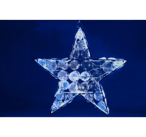 LED-es akril csillag dekoráció