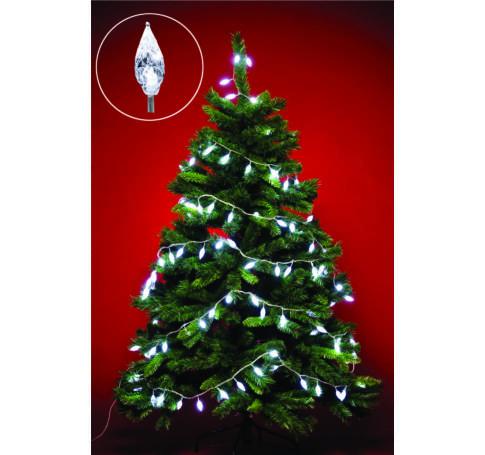 LED kültéri fényfüzér kristály dekorl, 8 pr.