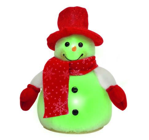 Hóember, színváltó LED-del, 24 cm