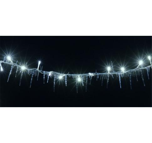 LED-es izzósor, jégcsap, 2,5m, IP44, 230V