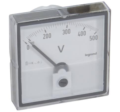 Lexic V mérő analóg 0-500V AC kerek kivágású