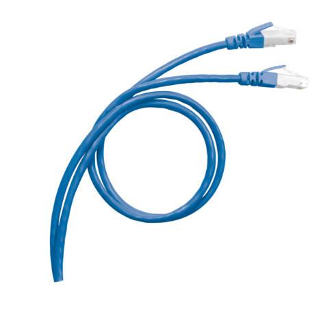LEGRAND patch kábel RJ45-RJ45 Cat6 árnyékolt (S/FTP) PVC 3 méter kék d: 6,2mm AWG27 LCS3