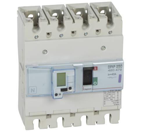 DPX3 250 40A 4P S2+M 50kA kompakt megszakító