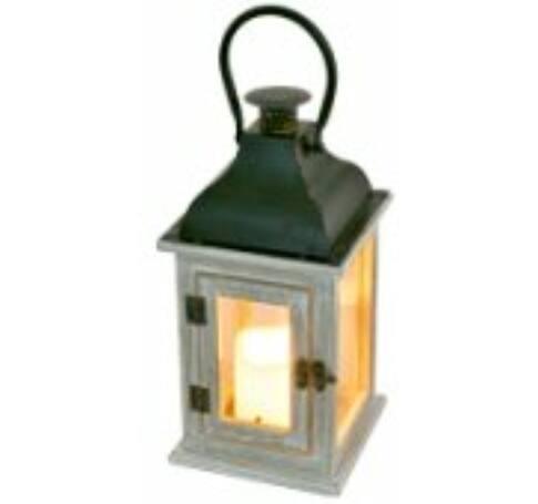 Lámpás LED gyertyával, 1 narancs LED