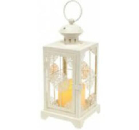 LED-es lámpás, fém, fehér, 4,5V