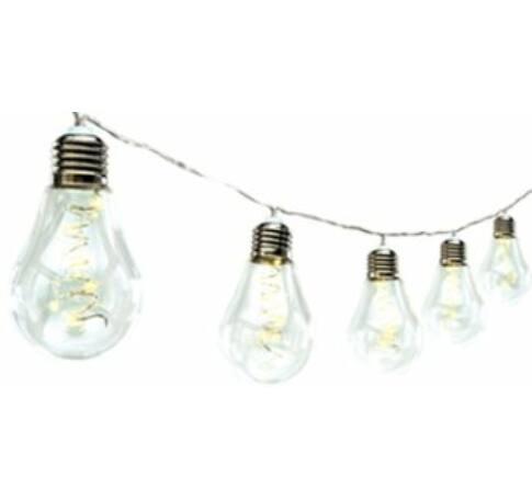 LED-es elemes fényfüzér, 50 LED, melegfehér