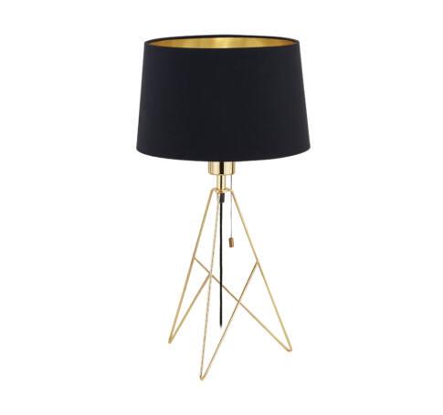Asztali E27 60W fekete/arany Camporale