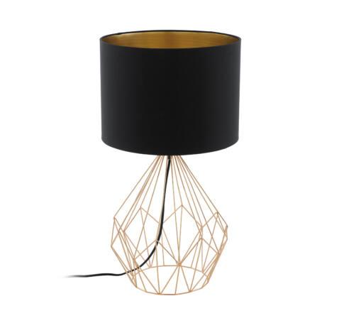 Asztali E27 60W fekete/réz Pedregal 1